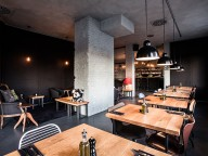 Location: Design-Restaurant im Industrielook